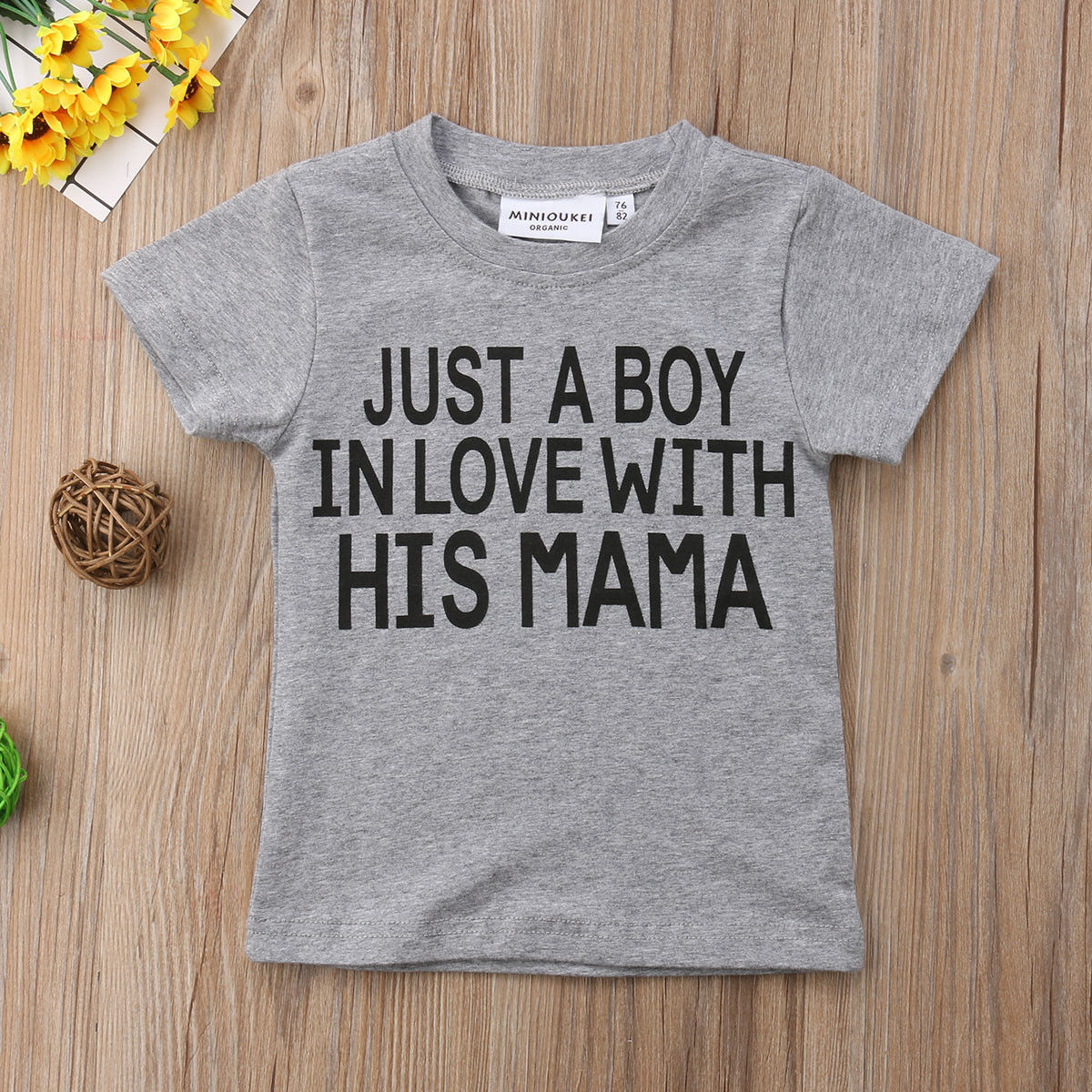 T-Shirts Tops Short-Sleeve Toddler Baby-Girl-Boy Kids Letter Gray Summer Casual Tee