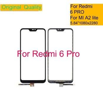 10Pcs/lot For Xiaomi Redmi 6 Pro 6PRO Mi A2 Lite Touch Screen Digitizer Touch Panel Sensor Front Outer Glass Touchscreen 5.84 10pcs lot for xiaomi redmi 6 redmi 6a touch screen digitizer touch panel sensor front outer glass for redmi 6 touch