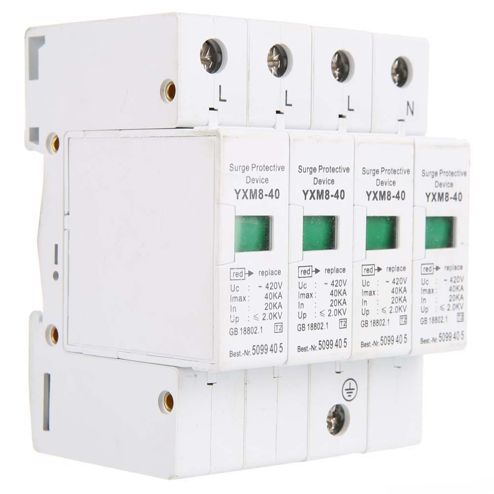 Mini Circuit Breaker 4P 40KA House Surge Din Rail Low-voltage Protector Arrester Device For Protection New