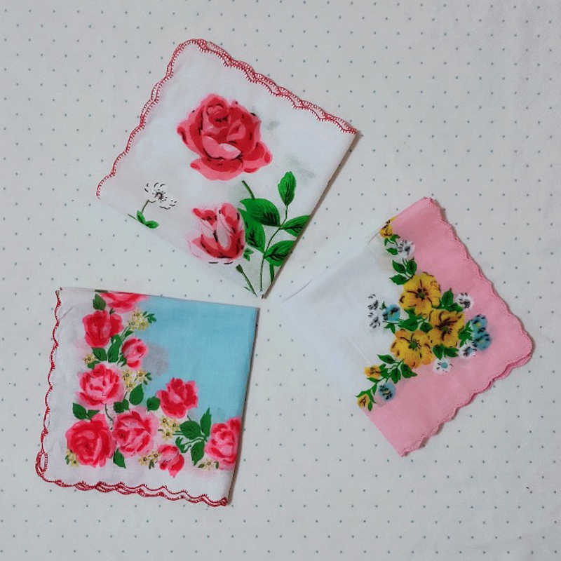20pcs Flower Floral Printed Cotton Small Handkerchief 20*20cm Women Floral Napkin Hanky Baby Infant Feeding Saliva Towel