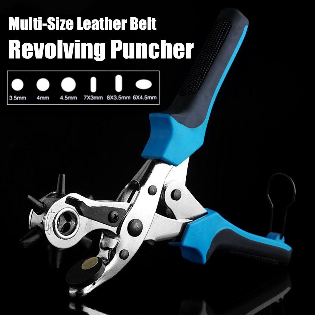 cinto de couro giratoria furador ilhos buraco mao alicate artesanato ferramentas cinta maquina de costura perfurador