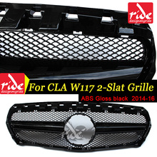For Mercedes Benz W117 Front Grille CLA-CLASS CLA180 CLA200 CLA250 CLA45 ABS Gloss Black Front Mesh Grille Car-Styling 2014-2016 цена