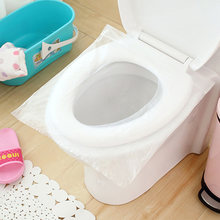 AFBC 1 bag (6pcs) Disposable Travel Safety PE Plastic Toilet Seat Cover Mat Cushion Maternity Waterproof Antibacterial Potty P(China)
