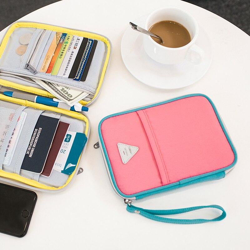 Yifangzhe Passport Wallet Reise Wasserdichte Halter Kreditkarte Dokument Veranstalter Premium Nylon Karten & Id Lagerung Kleine Taschen