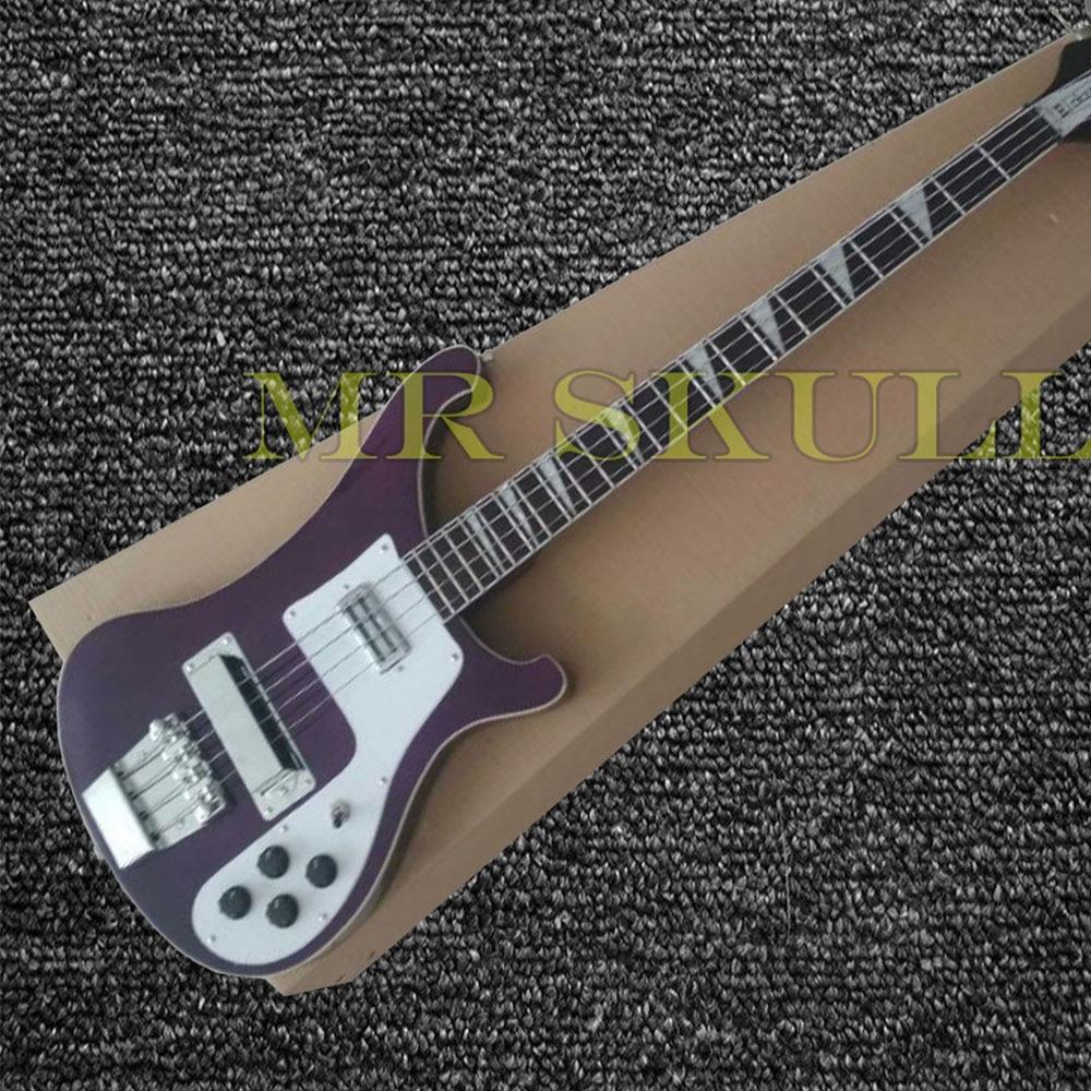 OEM Électrique Basse Guitares foncé rouge Rickenback 4003 basse guitare avec 4 cordes