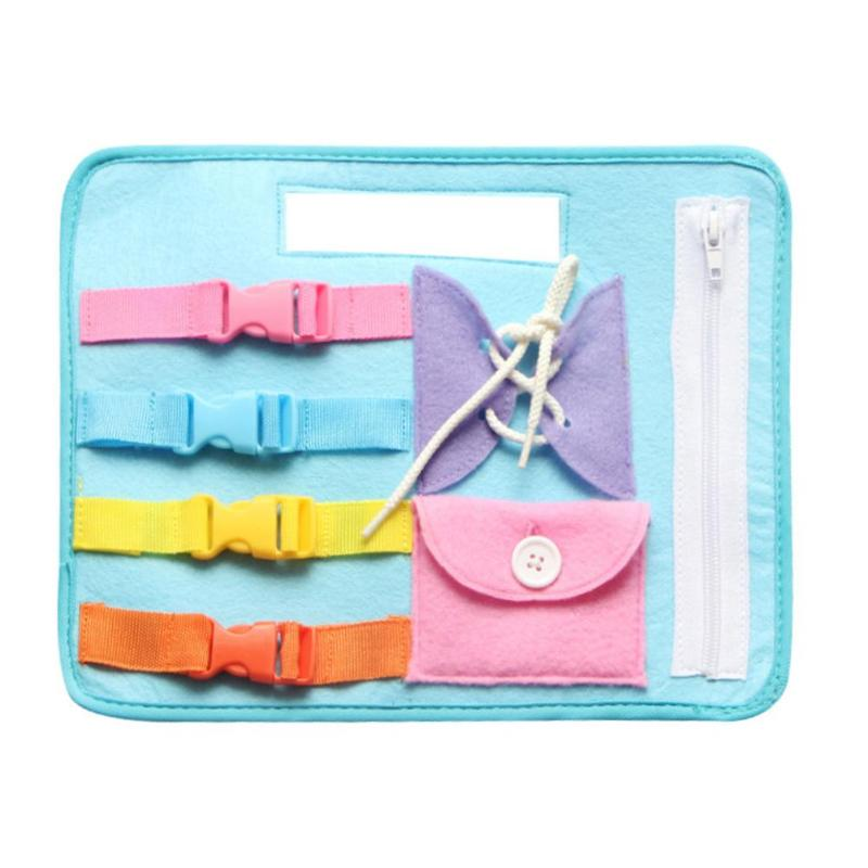 Kids Life Skills Dress Teaching Board Buckle Puzzle Toy Zip Button Lace Up Montessori Early Education Toys