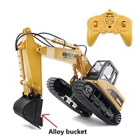 Rc Car 15 Channel Rc Crawler Kit 2.4g 1/14 Rc Excavator Charging With Battery Rc Alloy Excavator Rtr Toys For Kids Gift