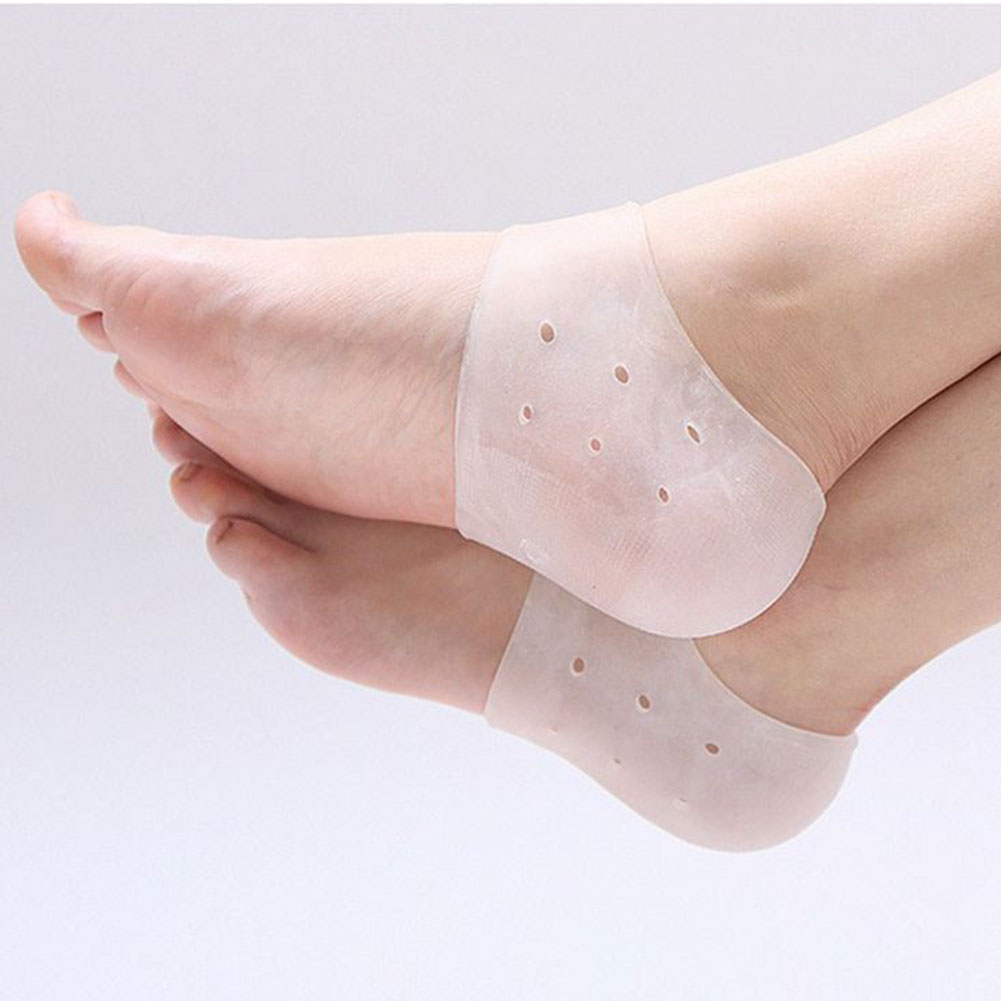 1 Pair Against Peeling Silicone Prevent Dry Skin Washable Foot Skin Care Foot Protector Soft Heel Socks Moisturizing Gel