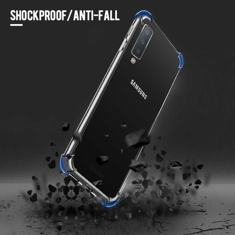 Silicone TPU Case For Samsung Galaxy A50 A30 M20 M10 M30 Clear Airbag Anti-Drop Cover For Samsung S10 Plus A6 A8 Plus A7 A9 2018