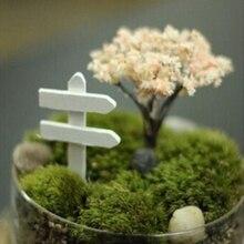 5Pcs Mini Wood Signpost Crafts Sign Board Miniatures Fairy Garden Home Moss Terrarium Decor Bonsai Figurines Micro Landscape #