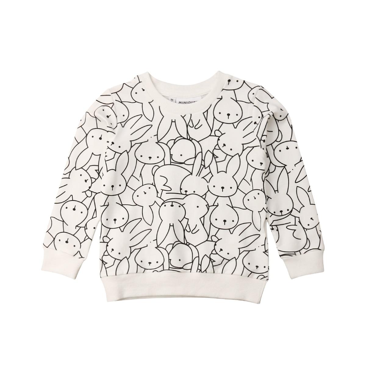 2019 Neue Kleinkind Kind Mädchen Kleidung Cartoon Bunny Mädchen Langarm T Shirt Ostern Kinder Kleidung Casual Tops T Hemd