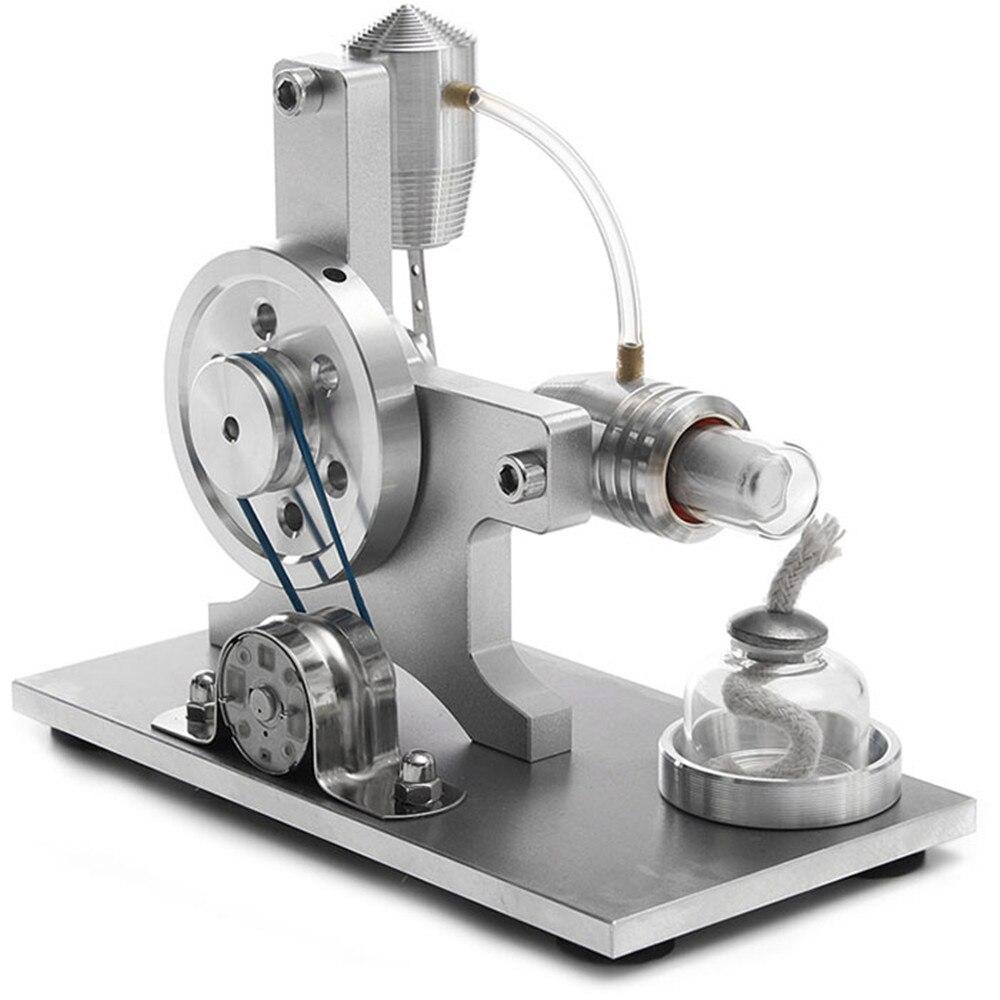 Nouvelle Arrivée DIY Stirling Moteur Machine À Vapeur Modèle Moteur Stirling Modèle + Lampe à Alcool Sciences Jouets Éducatifs Cadeaux Pour Enfants