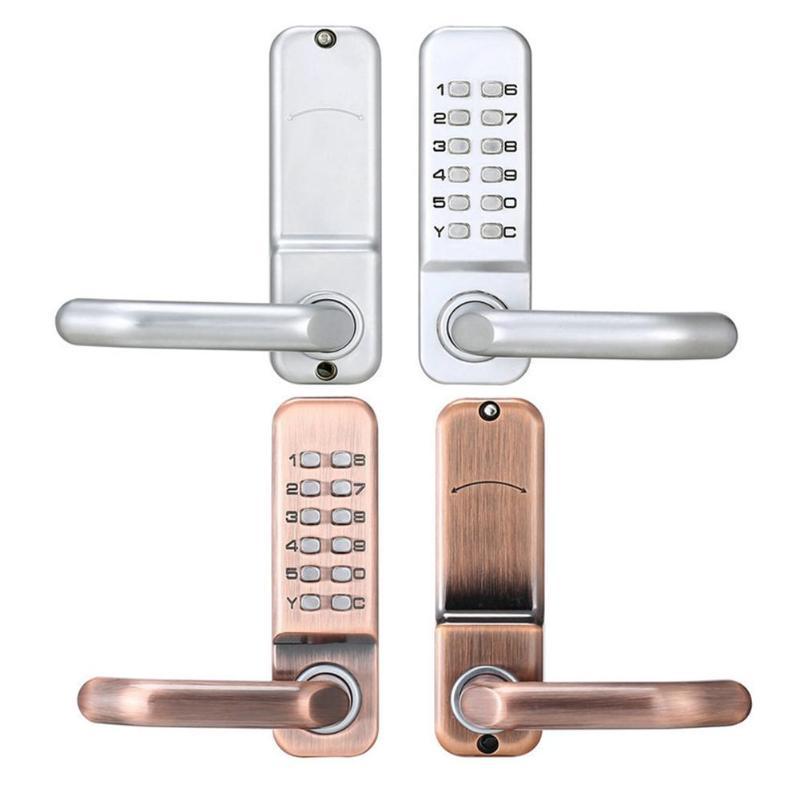 Serrure de porte à bouton-poussoir numérique mécanique serrure à Code à combinaison sans clé pour la maison intelligente serrure intelligente à mot de passe étanche