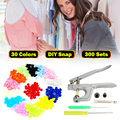 800Pcs/200Set T5 for T3 T8 Clothes Button+Plier Kit Plastic Fastener Snap Resin Press Stud for size 16 20 24 snap