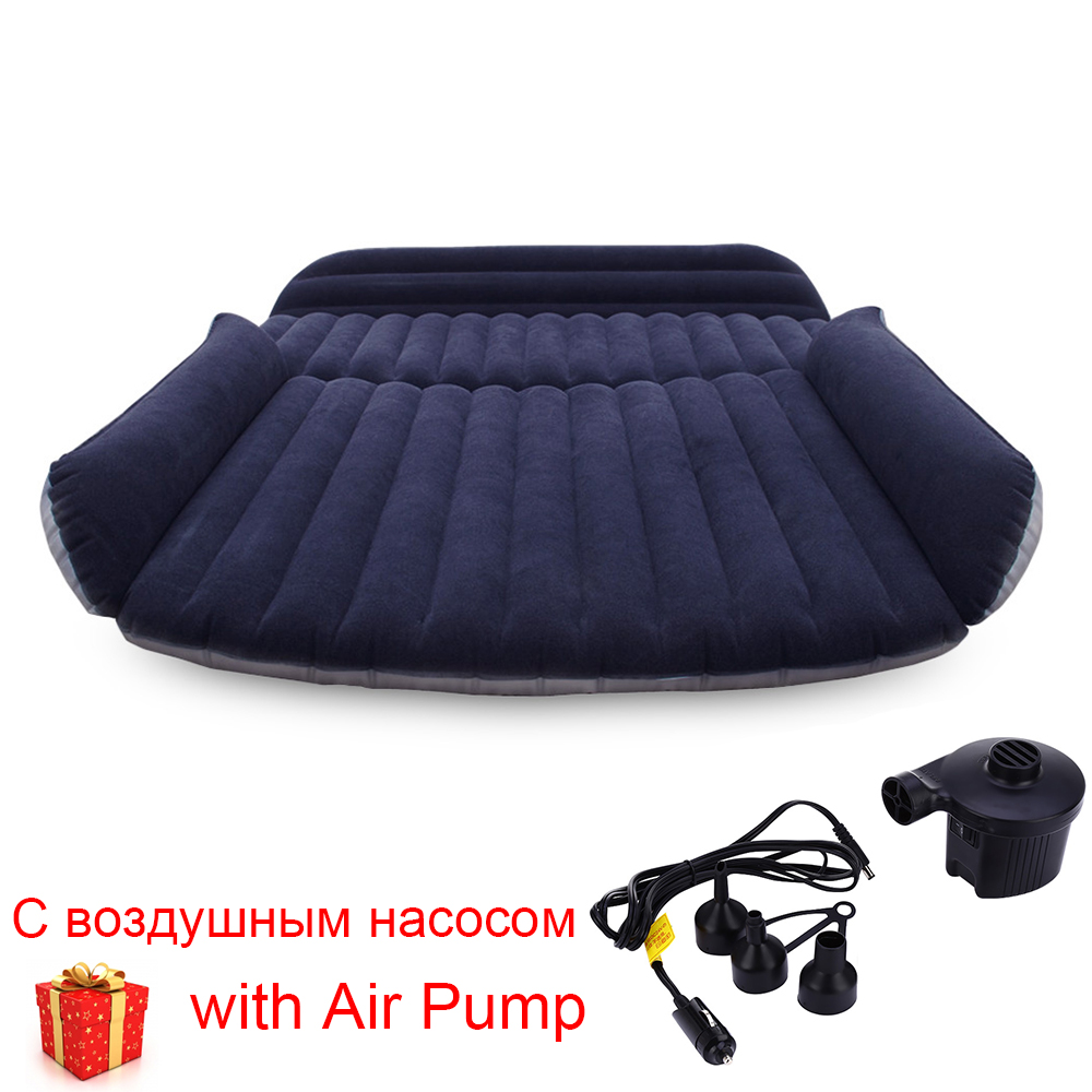 Inflatable Car Bed SUV Back Seat Cover Air Mattress Camping Companion Flocking Cloth Bed Traveling Outdoor with Inflator PumpInflatable Car Bed SUV Back Seat Cover Air Mattress Camping Companion Flocking Cloth Bed Traveling Outdoor with Inflator Pump
