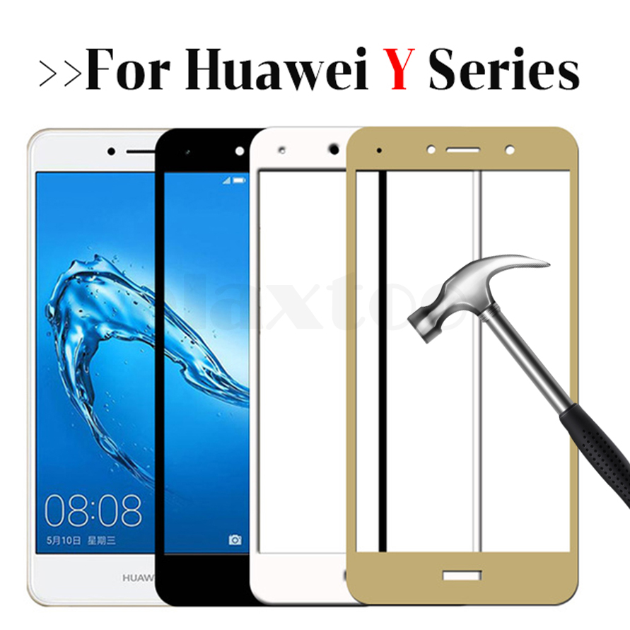 For Huawei Y3 Y7 2017 Tempered Glass For Huawei Y9 Y7 Y6 Y5 Y3 Prime 2018 screen protector Protective Glass on y 3 5 6 7 9 Film
