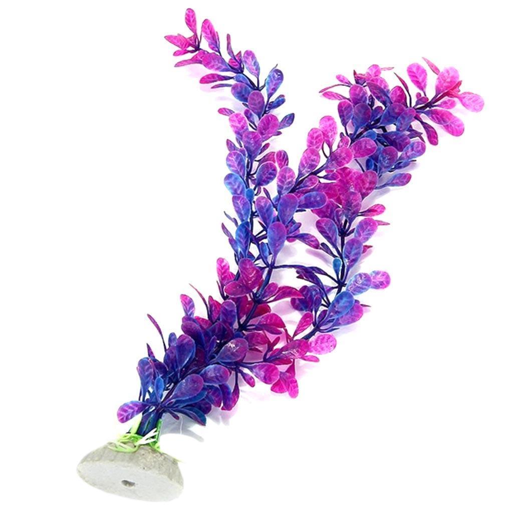 2Pcs Plastic Plant Shape Aquarium Fish Tank 62g Home, Bar, Restaurant, etc PcsSet Tank, Decoration Ornaments