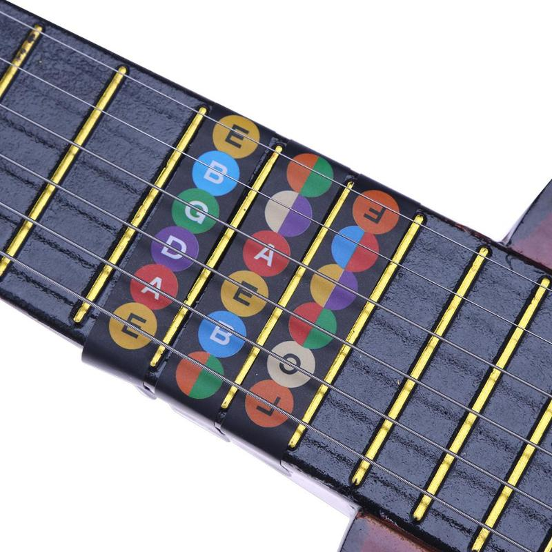 Guitar Parts & Accessories Fingerboard Frets Map Sticker For Guitar Fretboard Notes Map Labels Beginner Fingerboard Fret Sticker Decals For 6 String Guitar Stringed Instruments