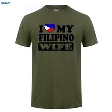 GILDAN  MENS FUNNY COOL NOVELTY FILIPINO WIFE PHILIPPINES FLAG SLOGAN JOKE T-SHIRTS GIFT Funny Clothing T Shirts