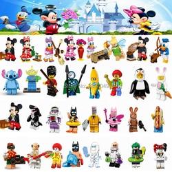 Cartoon Minnie Donald Duck Daisy Fee Tinker Glocke Joker Einzigen Verkauf Bausteine Spielzeug für Kinder Kompatibel für Legoing Figuren