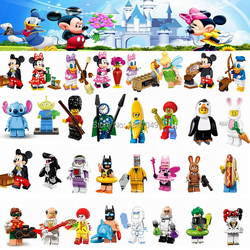 Cartoon Minnie Donald Duck Daisy Tinker Bell Joker Single Sale Building Blocks Toys for Children Compatible for Legoing Figures