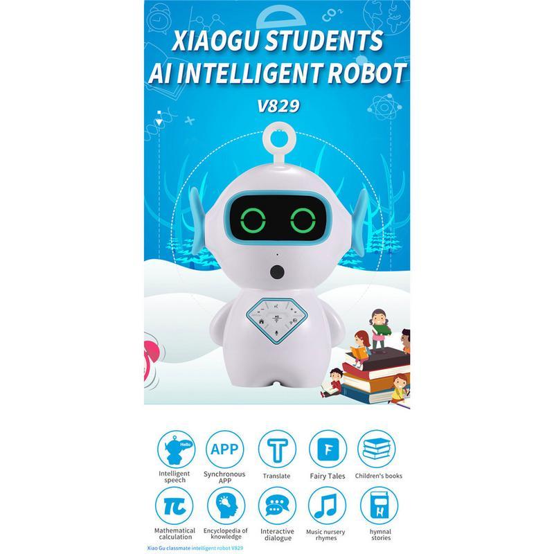 D'apprentissage Anglais Intelligent Robot Interactif Éducation Préscolaire Robot Voix Interactive Wifi Histoire Machine Robot - 6