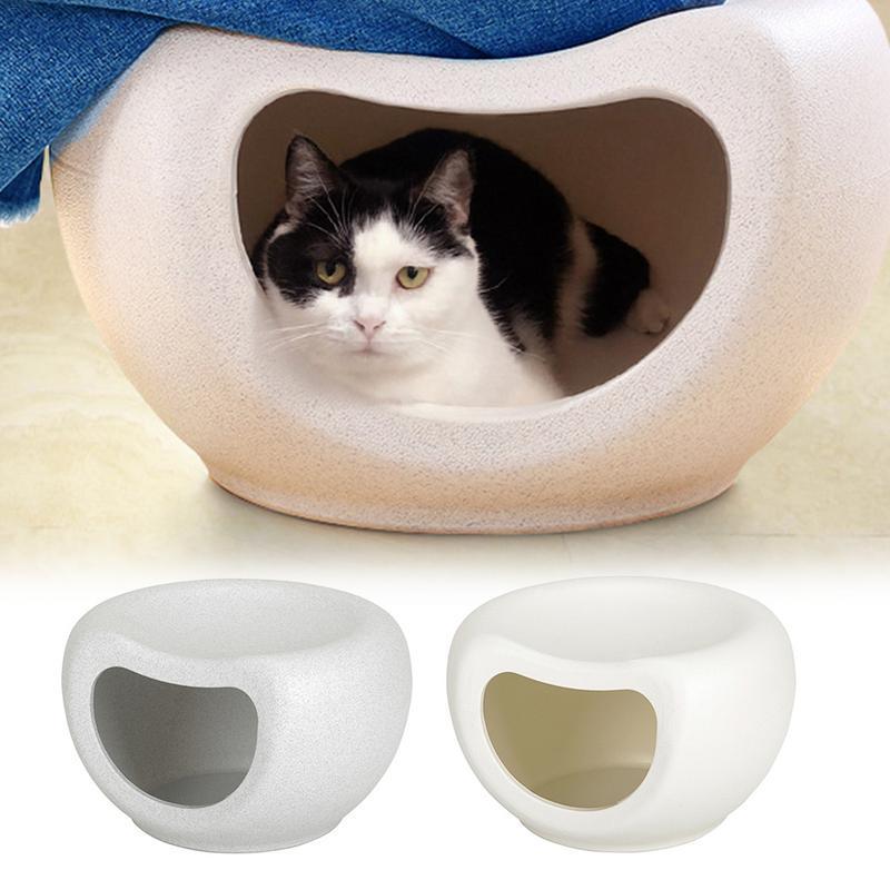 Pet House fermé quatre saisons PE plastique chat maison automne hiver chaud Net rouge chat maison chaise panier pour chat