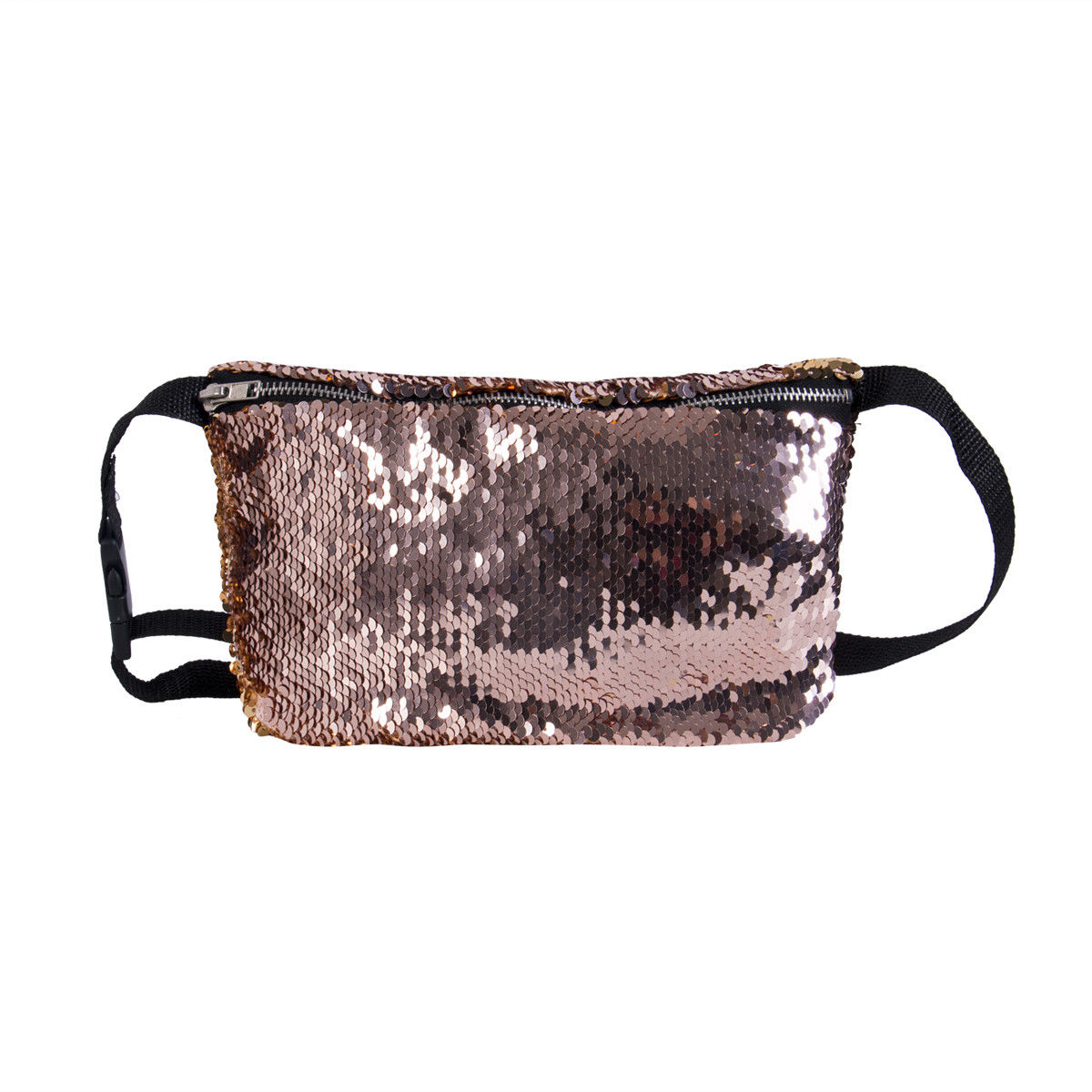 купить New Style Fashion Reversible Sequin Glitter Waist Fanny Pack Belt Bum Bag Pouch Sequined Solid Waist Packs по цене 136 рублей
