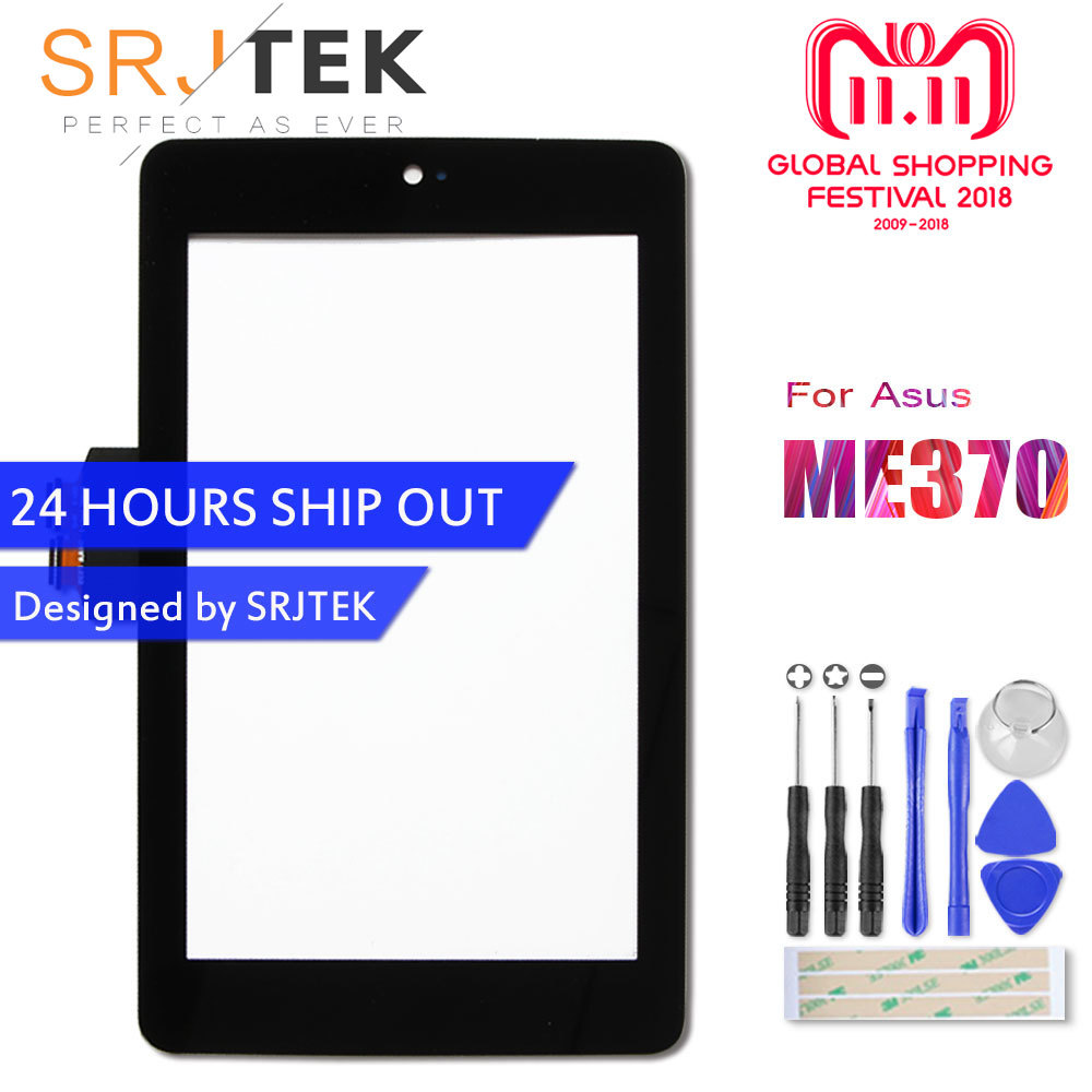 Srjtek 7 For Asus Google Nexus 7 1st Gen Nexus7 2012 ME370 ME370T ME370TG Touch Screen Tablet Digitizer Glass Replacement Parts