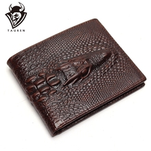 купить Crocodile Head Wallet Fashion Wallet Men Pattern Leather Purse Top Quality Mens Wallets Luxury Male Clutch Crazy Horse Purses по цене 715.79 рублей