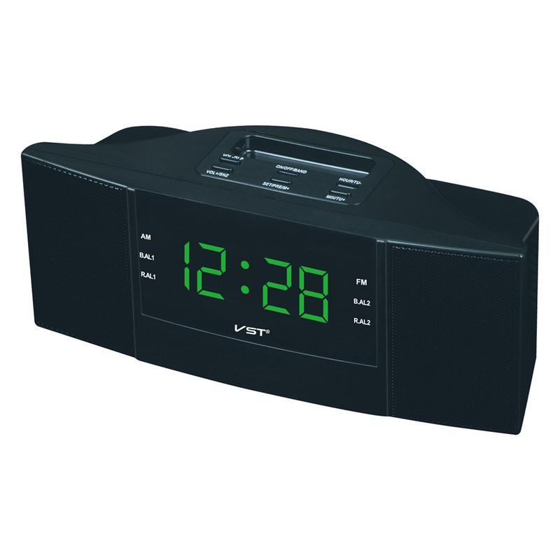Image 2 - Portable Speaker Multi function LED Clock AM/FM Digital Radio Stereo Sounds Music Program Devices Dual Band Channel For Gifts-in Portable Speakers from Consumer Electronics
