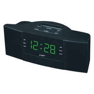 Image 2 - 휴대용 스피커 다기능 led 시계 am/fm 디지털 라디오 스테레오 사운드 음악 프로그램 장치 선물을위한 듀얼 밴드 채널