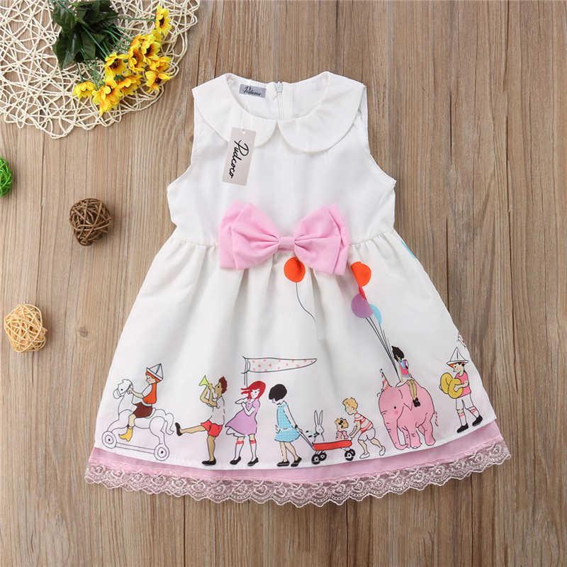 562525fa3 ... Flower Kids Baby Girl Floral Lace Tutu Dress Children Girls Sleeveless  Summer Vestidos Princess Wedding Bow ...