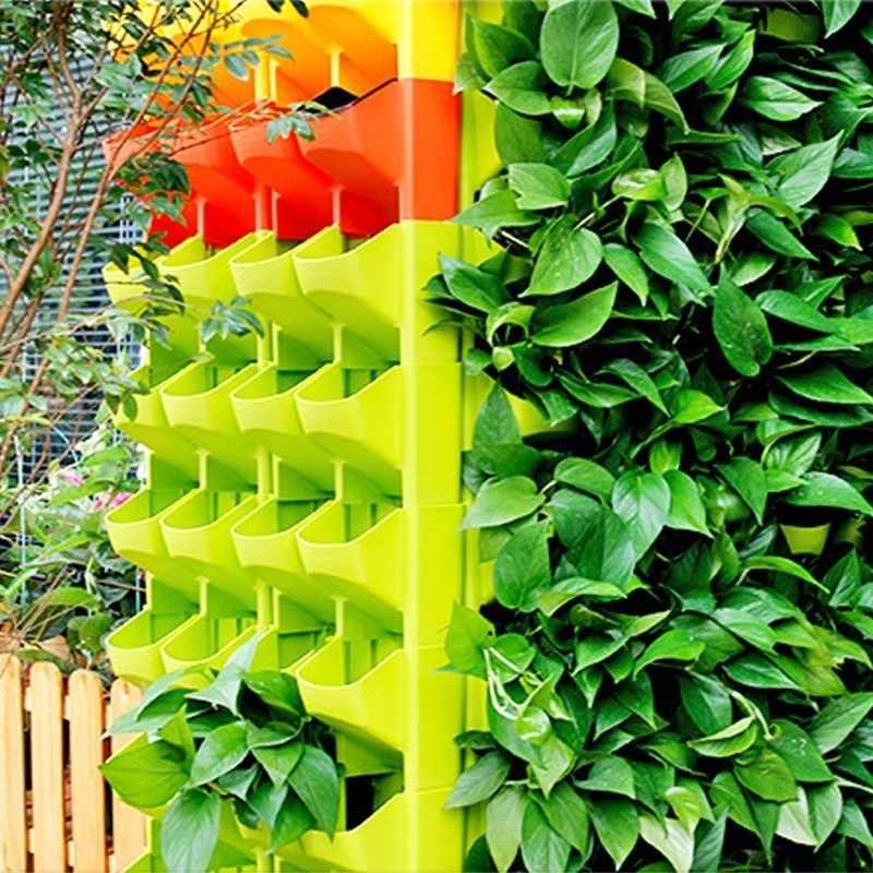 Parede empilhável plantador vaso de flores jardim planta potes parede pendurado vertical suculentas vaso de flores bonsai decoração para casa dropshipping