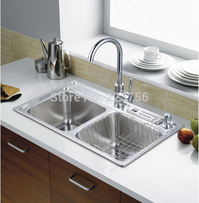 Free shipping best price industrial kitchen sink stainless ...
