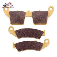 Motorcycle Front Rear Brake Pads For HONDA CRF250R CRF250X 2004-17 CR125R CR250R CR125 CR250 R 02-07 CRF450R 02-16 CRF450X 05-17 цены