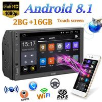 SWM Car MP5 Player A1 2Din Quad core Android 8.1 Car Stereo MP5 Player GPS Navi WiFi RDS FM AM Radio U Disk BT4.2 Without Camera