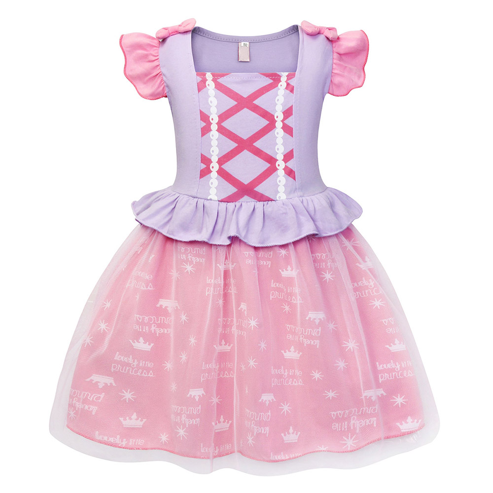 AmzBarley Princess tutu dress for girls summer dress Birthday party costume children clothes Ruffle sleeve kids dresses in Dresses from Mother Kids