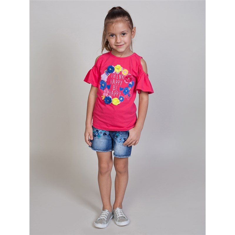 Shorts Sweet Berry Girls denim shorts children clothing raw hem stripe side ripped denim shorts
