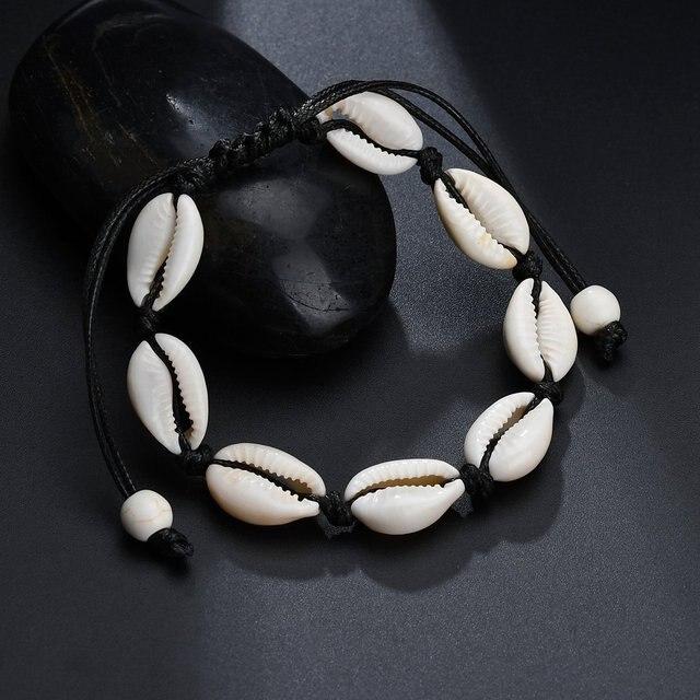 Hot Sale Handmade Natural Seashell Hand Knit Bracelet Shell Bracelets Women Accessories Beaded Strand Bracelet Best Friend Gifts 3