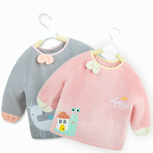 Baby Bibs Long Sleeve Kids Clothes Waterproof Eating Clothing Children's Smock Baby Feeding Accessories For Girls Boys Babador