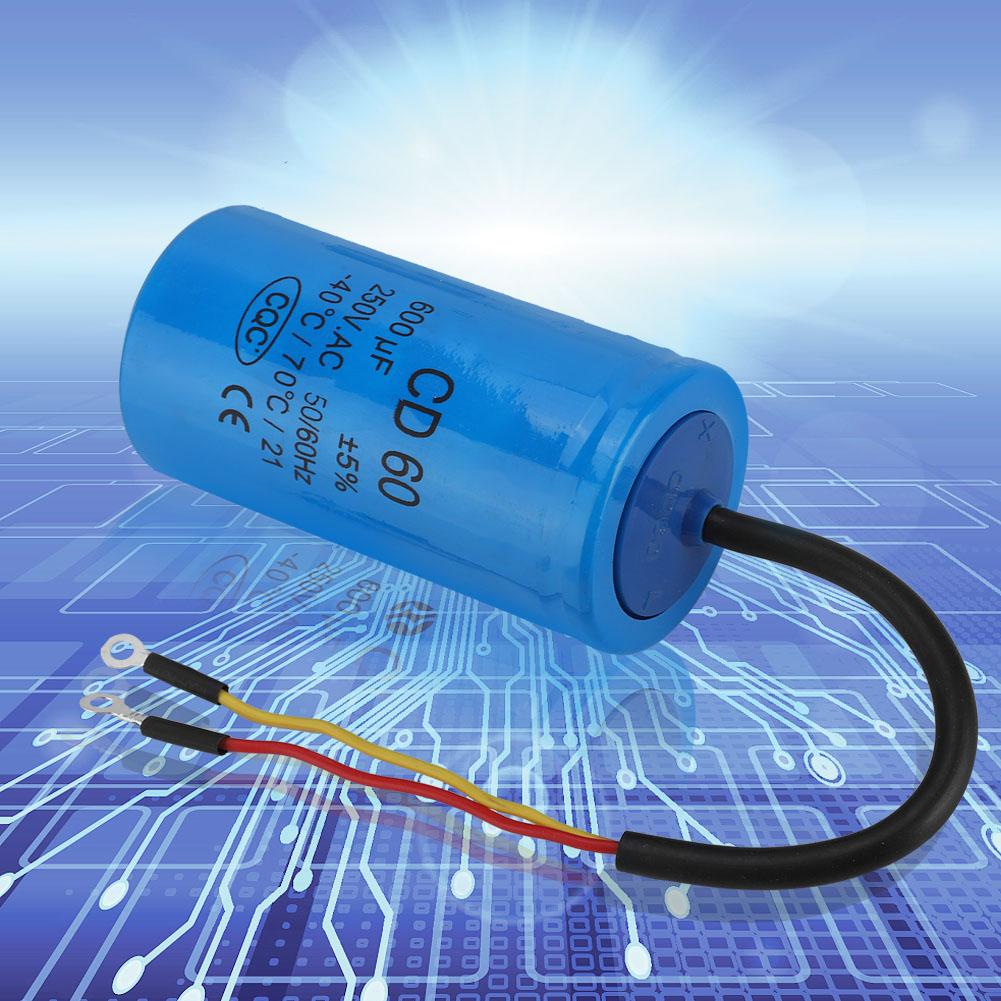 250V AC CD60 Capacitor 50//60Hz 150uF Motor Run Capacitor with Wire Lead for Motor Air Compressor Run Capacitor