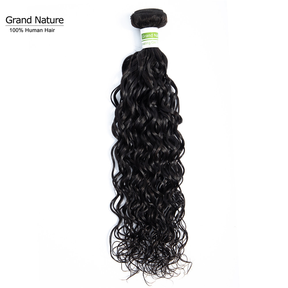 Grand Nature 100% Brazilian Virgin Hair One Bundle Water Wave 100% Pineapple Wave Human Hair Weaves Can Buy 3 Or 4pcs
