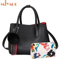 MIYACO Women Handbag Designer Shoulder Bag Messenger Bag Vintage Leather Tote Luxury Ladies Hand Bags with inner Pattern Bag