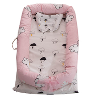 Portable Baby Crib for Baby Bed Co Sleeping Bassinet Cradles Baby Nest Baby Cot 100% Cotton Super Soft Washable Infant Newborn