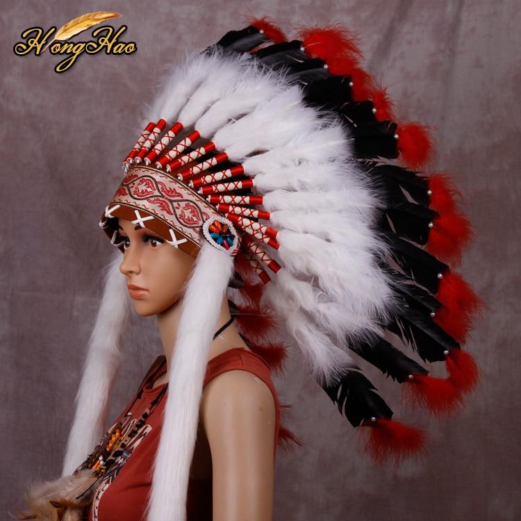 Indian Chief Green Feather Coating  high War Bonnet Native American Indian Headdress HatIndian Chief Green Feather Coating  high War Bonnet Native American Indian Headdress Hat