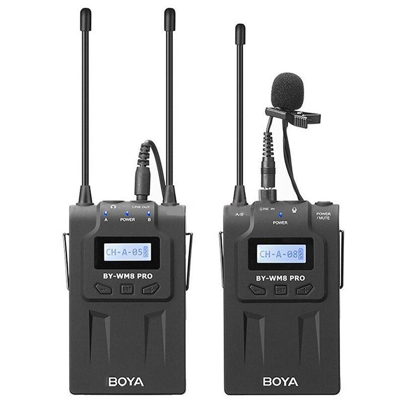 Boya By-Wm8 Pro-K1 Uhf Kit de Microphone de Lavalier sans fil pour caméra reflex numérique Eng Efp