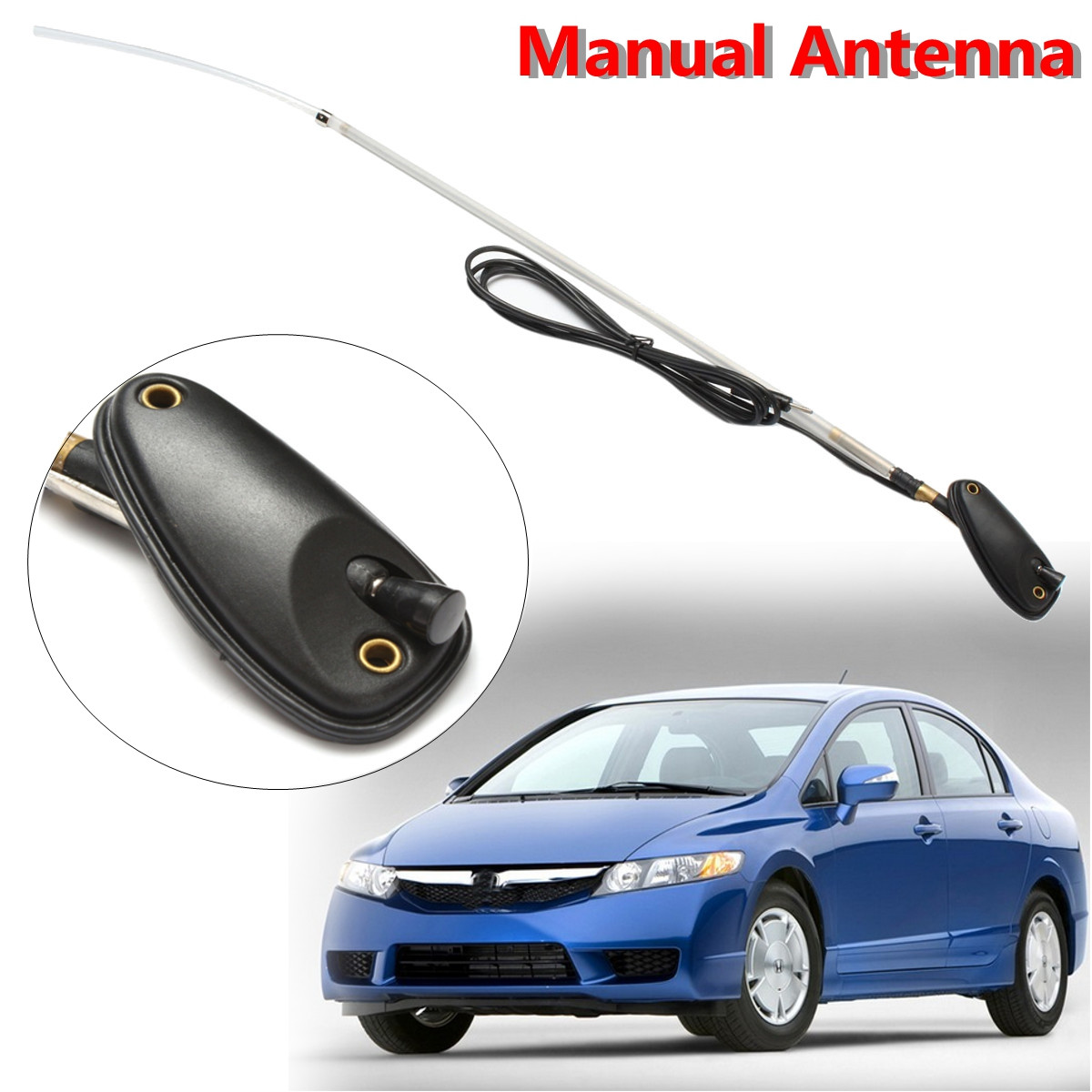Car AM/FM Manual Aerial Aerials Antenna 39150-S01-A02 For Honda For CIVIC 1992 1993 1994 1995 1996 1997 1998 1999 2000 2001 <font><b>2002</b></font> image