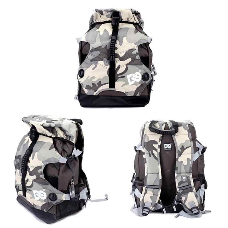 Waterproof Nylon Fabric Inline Speed / Slalom Roller Skates Backpack Travel Camping Multi-function Skating 20-35l Canvas Bags