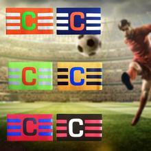 Fashion Football Solid Color Armband New Basketball Epaulettes Volleyball Match Captain Armbands With Hook And Loop Unisex